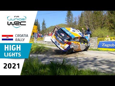 ジュニアWRC 2021 第3戦ラリー・クロアチア Day2ハイライト動画