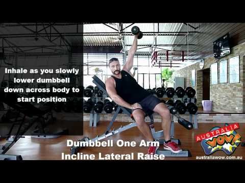 Dumbbell One Arm Incline Lateral Raise