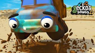 5 Muddy Trucks Song | 5 Little Dumper Trucks | Nursery Rhymes & Kids Songs | Gecko's Garage