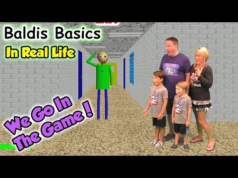 Baldi's Basics In Real Life! We GO in the Game and Beat Baldi | DavidsTV