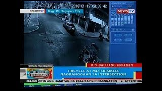 BP: Tricycle at motorsiklo, nagbanggaan sa intersection