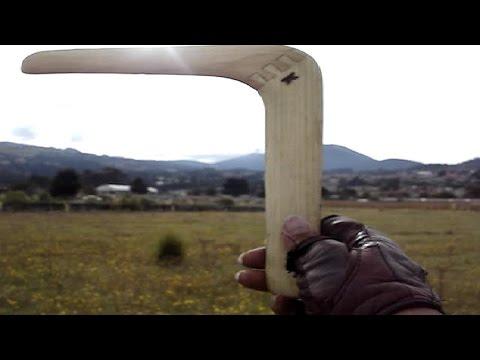 Cómo lanzar bumerán / bumerang / boomerang  (desde San Miguel Ajusco) [tutorial]