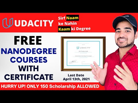 FREE Udacity Nanodegree Courses With Certificate | Learn Data ...
