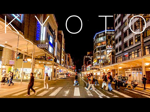 Kyoto 4K-Night Drive in Japan - 京都ドライブ