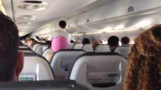 preview picture of video 'Embraer 190 Lufthansa CityLine Economy Class Cabin Interior'