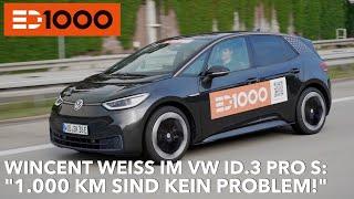 1000 km im VW ID.3 PRO S: Für Wincent Weiss kein Problem! ED 1000 |  ID.3 Langstrecken Test