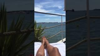 Vida Guerra Feet and Relaxing