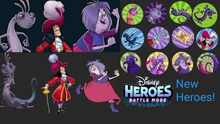 Disney Heroes Battle Mode: New Heroes! Captain Hook Randall Boggs And Madam Mim!