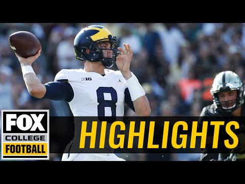 Michigan vs Purdue | Highlights | FOX COLLEGE FOOTBALL