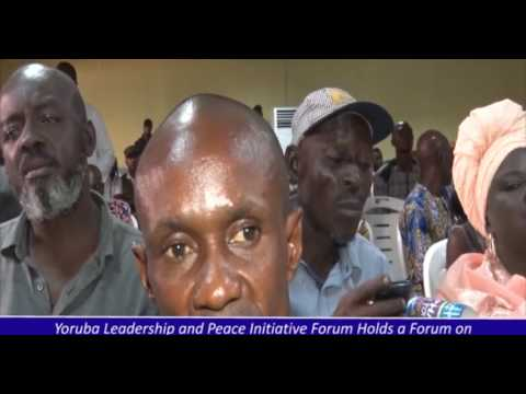 YORUBA INITIATIVE FORUM HOLDS SPECIAL MEETING IN IBADAN ON THE ISSUE OF RESTRUCTURING OF NIGERIA
