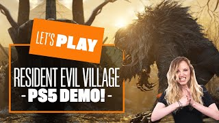 Let's Play Resident Evil Village PS5 Demo - RESIDENT EVIL VILLAGE DEMO GAMEPLAY REACTION