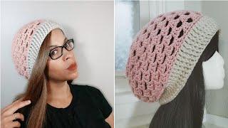 Crochet Granny Stitch Hat | Easy Slouchy Beanie