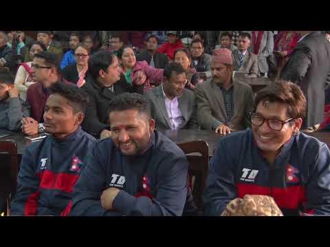 Nepal National cricket team farewell by PM KP Sharma Oli