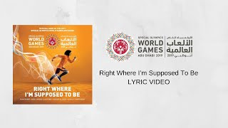 Tedder ft. Avril Lavigne, Fonsi, Al Jassmi, Assala & Hosny - Right Where I'm Supposed To Be | Lyrics