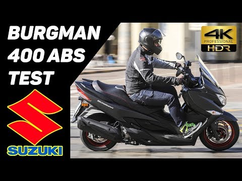 New 2017 SUZUKI Burgman 400 ABS Scooter TEST 4K