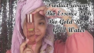 Product review : Bio Essence 24K Bio Gold Rose Gold Water