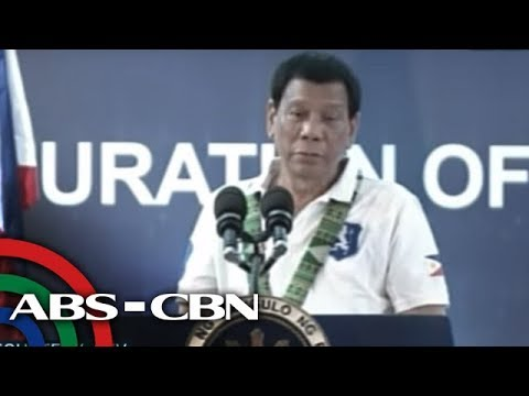 [ABS-CBN] WATCH: President Duterte speaks at the inauguration of Davao River Bridge widening project