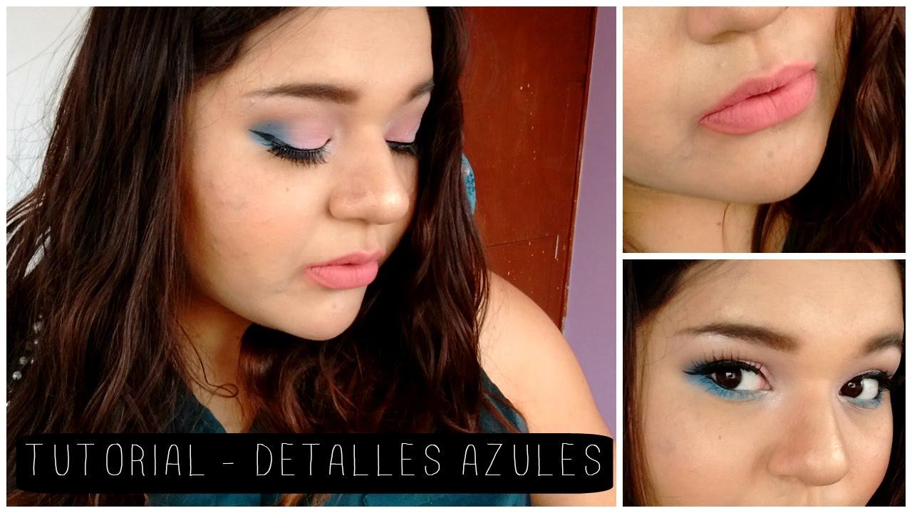 Demelza Makeup - Detalles azules - Tutorial