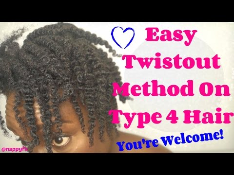 Natural Hairstyles: The Two Strand Twist Out Method For Natural Hair Definition that last!