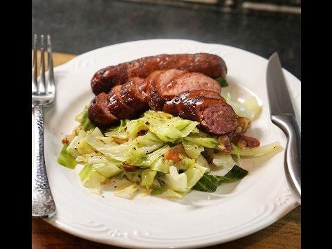 Video Kielbasa Sausage and Cabbage
