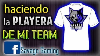 Playera para el TEAM SAVAGE GAMING