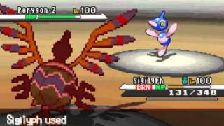 Sigilyph  - (Pokémon) - Pokemon Black Wi-Fi Battle #107 losgh vs MrDemilade6 (Sigilyph Sweep)