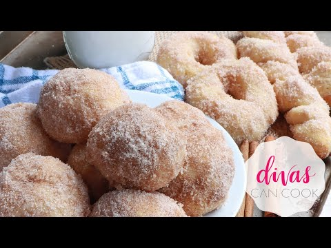 From-Scratch Air Fryer Donuts, SO ADDICTIVE! | Cinnamon Sugar