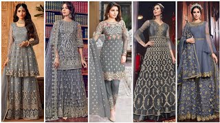 Grey & Silver Colours Dress & Combination Ideas Suits Kurti Dress With Dupatta Style ?