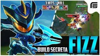 #4 BUILD SECRETA - FIZZ JUNGLE GAMEPLAY - MATAVA OS CARRY COM 3 HITS - League of Legends - [ PT-BR ]
