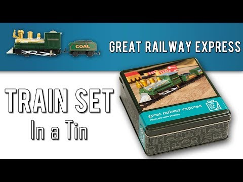 Bigger Train Set in a Tin - Great Railway Express - Unboxing