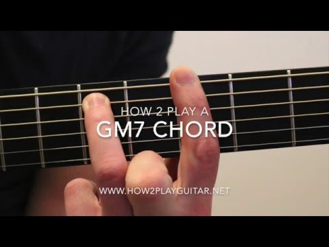 How to play a Gm7 chord on guitar