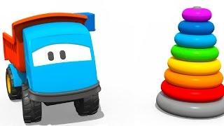 Мультфильмы про машинки: Грузовичок Лева и Пирамидка: Учим Цвета | Kholo.pk