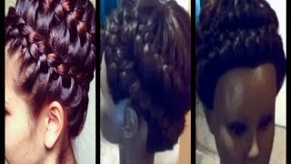 Universal Sew In Weave   Never Ending Braid Updo -  Prom  2014