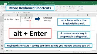 Keyboard Shortcuts (alt + Enter)