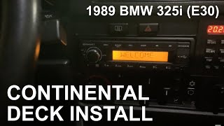 BMW E30 Continental TR7412UB-OR Radio Install [period correct]
