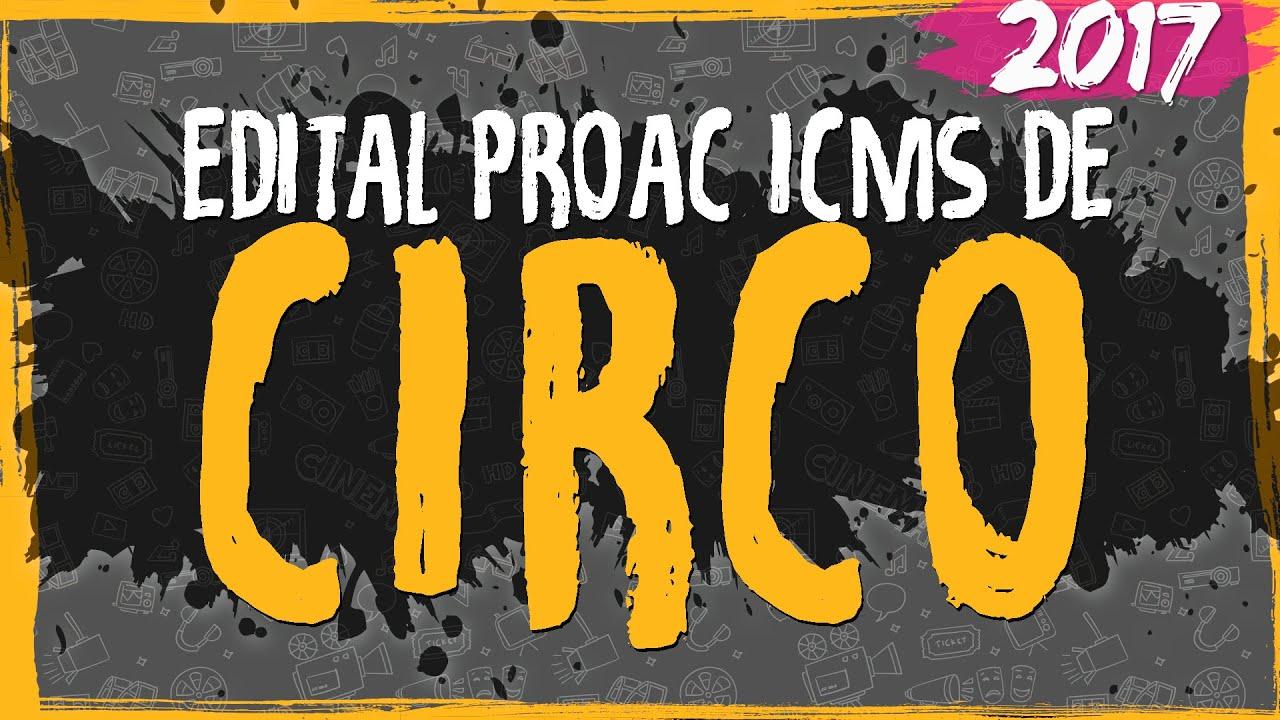 Edital ProAC 2017 de Circo
