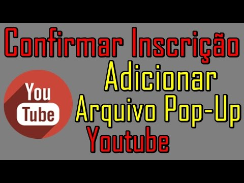 Como Adicionar Arquivo Pop-Up No Youtube