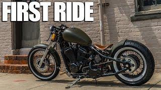 Honda Shadow Bobber   First Ride on Warhorse