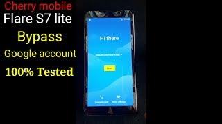 Cherry mobile flare s7 lite bypass google account 100%tested