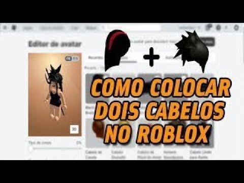 COMO COLOCAR DOIS CABELOS NO ROBLOX PELO PC! (2021)