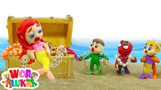Familia LuKa 🐟 LuKa descubre dónde fue la sirena desaparecida 💖 Dibujos animados para niños