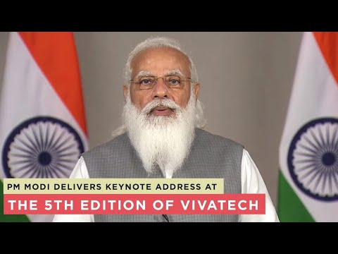 PM Modi delivers keynote address at the 5th edition of VivaTech