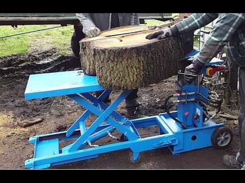 Holzspalter 325 kg Hubtisch Eigenbau für rückenschonendes Arbeiten