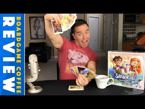Santorini Board Game Review with BoardGame Coffee