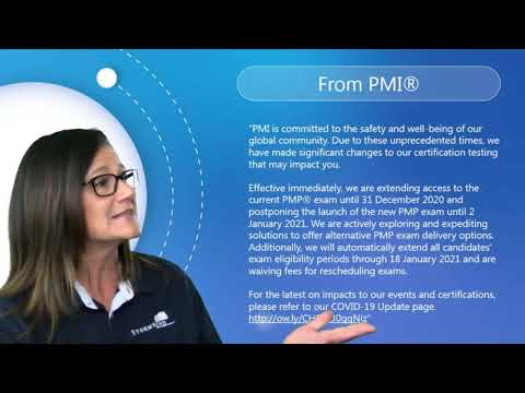PMP Exam Date Changes for 2020 - YouTube