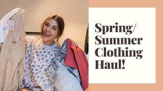 TRY ON SPRING/SUMMER CLOTHING HAUL!♡ | Missguided, Dynamite, American Eagle | Alexis DeBruge