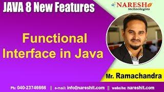 Java 8 Features Tutorials | Functional Interface in Java | Core Java Tutorials  | By Mr.Ramachandra