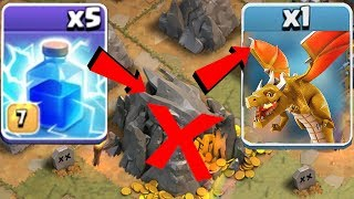 "ALL SPELLS vs. GOLDEN boSS!! NEW TROLL ""Clash Of Clans"" How to train a dragon!!"