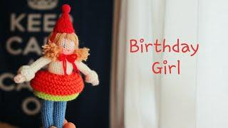 How To Knit A Doll-Birthday Girl(part1) 대바늘인형 손뜨개인형 생일선물