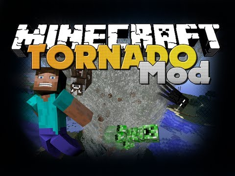 Minecraft Mod – Tornado Mod – New Items and Weather (Destroy Kings Landing)